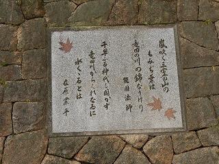 三室山登り口の案内板